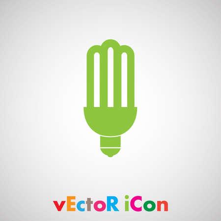 fluorescent saving light bulb Vector