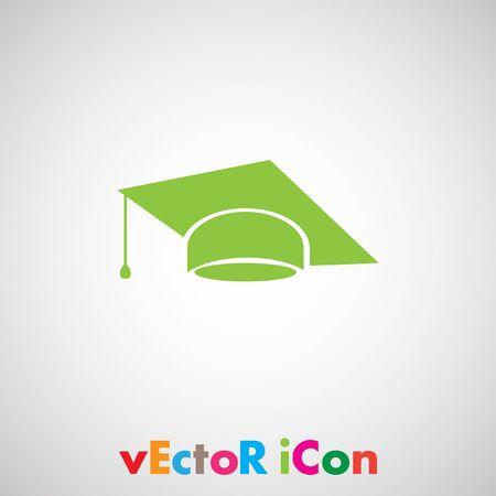 graduation cap vector icon Vector