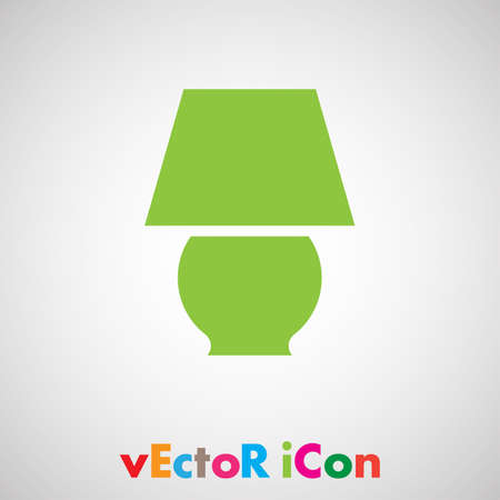 lamp vector icon Vector