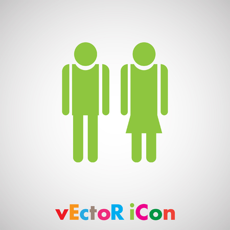 man and woman vector icon Vector