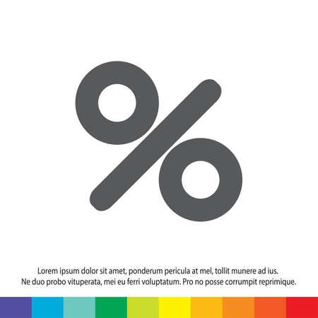 percent sign vector icon Vector