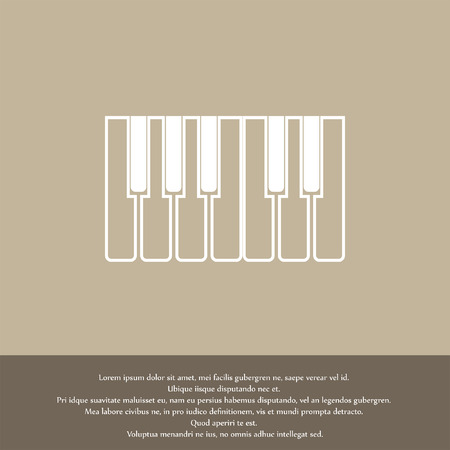 keyboard instrument: piano keys icon