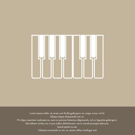 teclado de piano: teclas de piano icono