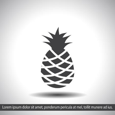 ananas: pineapple vector icon Illustration