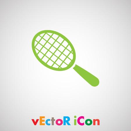 racket ball vector icon Vector
