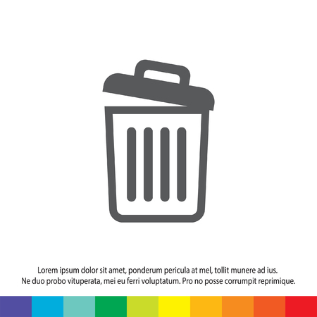 recycle bin icon empty Vector