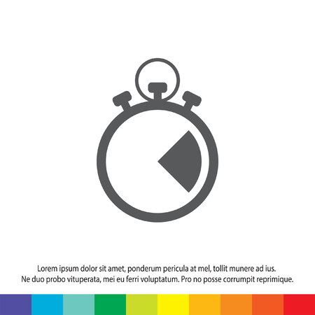 stopwatch vector icon Illustration