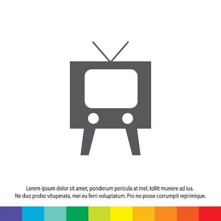television symbol vector icon Vector