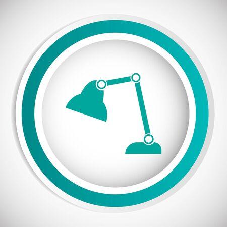 lamp vector: desk lamp vector icon