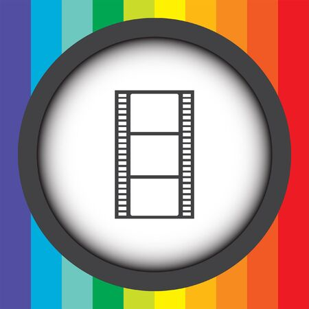 strip design: movie film strip vector icon