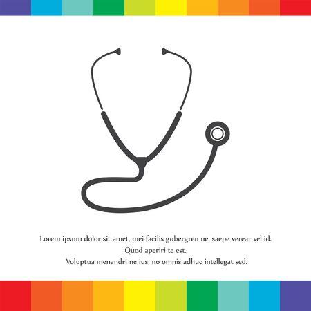 stethoscoop vector pictogram Stock Illustratie