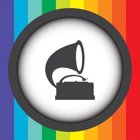gramophone vector icon Vector