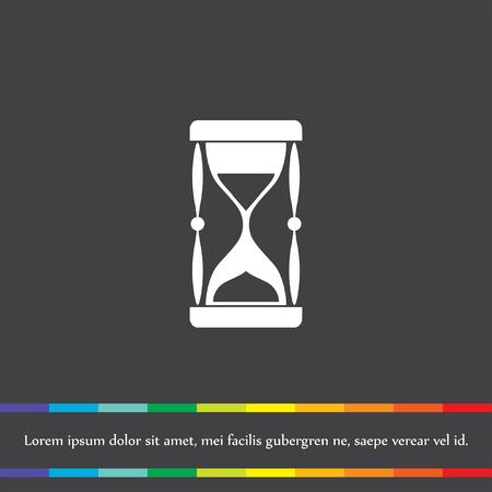 sand clock: icono del reloj de arena del vector