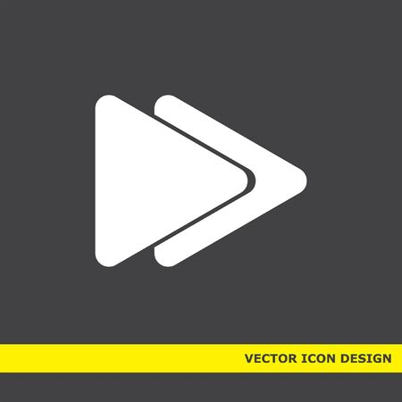 fast forward: fast forward button vector icon