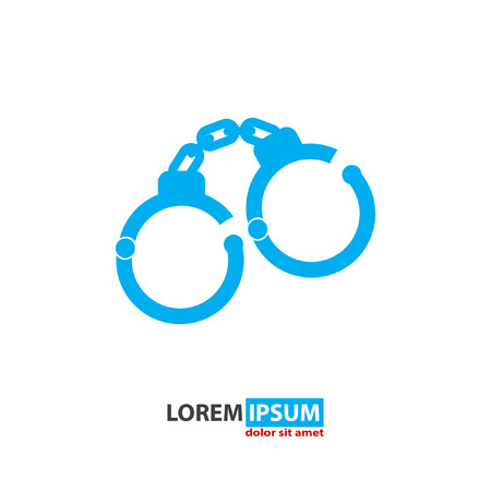 handcuffs vector icon Vector