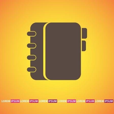 an organizer: personal organizer vector icon
