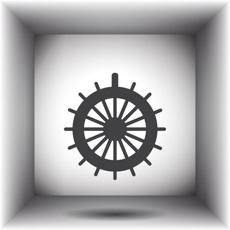 rudder: rudder vector icon Illustration