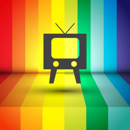 television set: television symbol vector icon