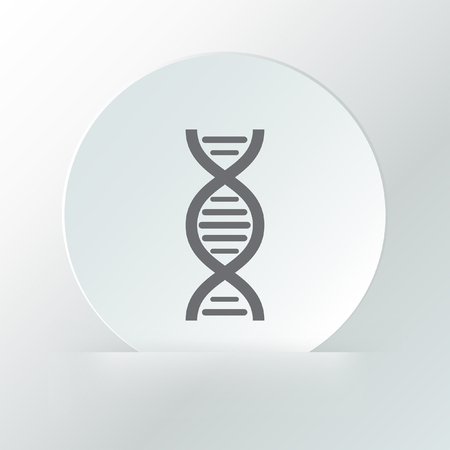 dna chain vector icon Vector