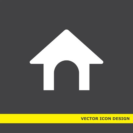 dog bone: dog house vector icon