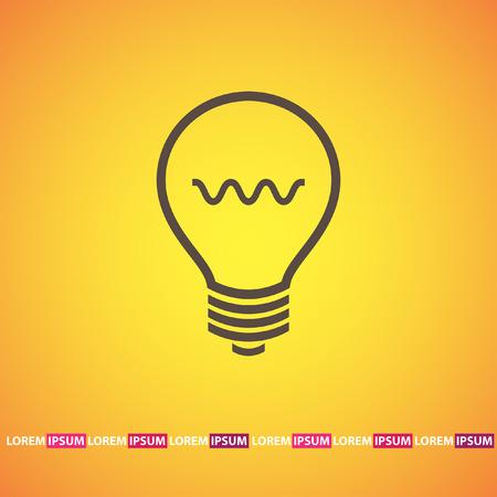 light bulb vector icon Vector