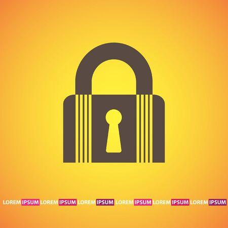 lock closet state vector icon Vector