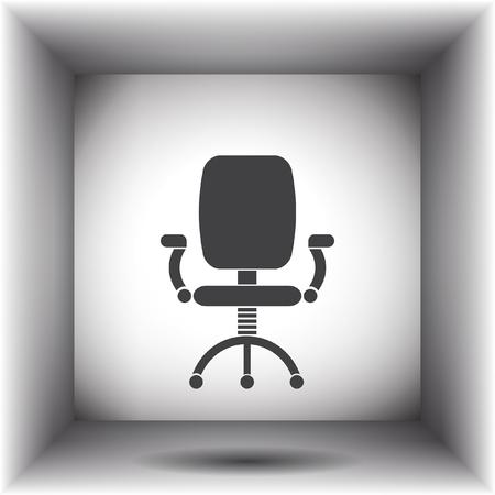 chair vector: sedia da ufficio vector icon