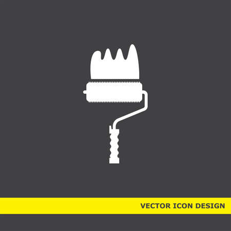 painting roller vector icon Vector