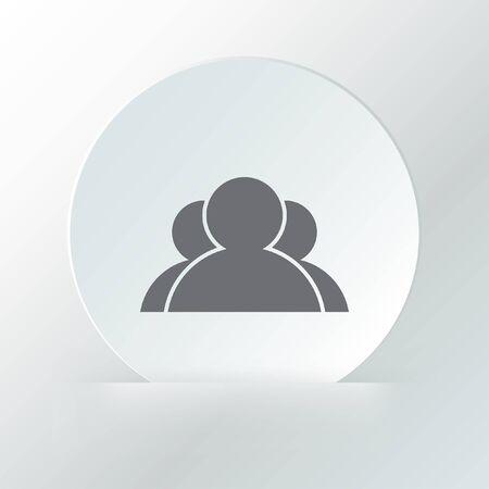 three people vector icon logo Vector