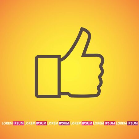 thumb up vector icon Vector