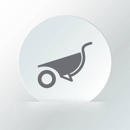 wheelbarrow vector icon Vector