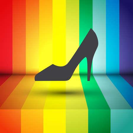 woman shoes vector icon Vector