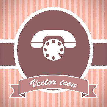 phone vector: phone vector icon Stock Photo