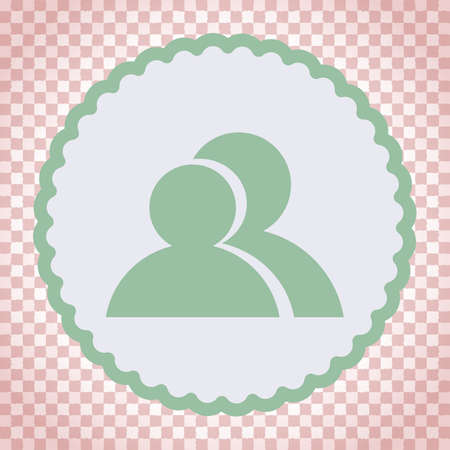 two people: two people vector icon Stock Photo