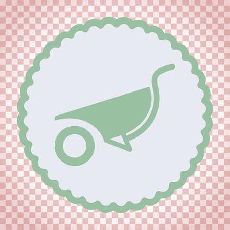 carretilla: wheelbarrow vector icon