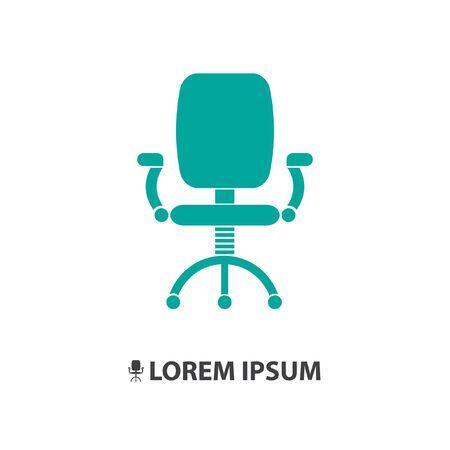 sillon: icono de vector silla de oficina