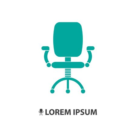 a chair: office chair vector icon