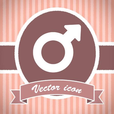 gender: male gender symbol vector icon Stock Photo