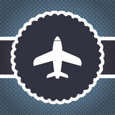 commercial airline: airplane vector icon logo Stock Photo