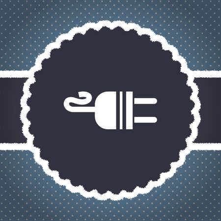 ac: electric ac power plug vector icon