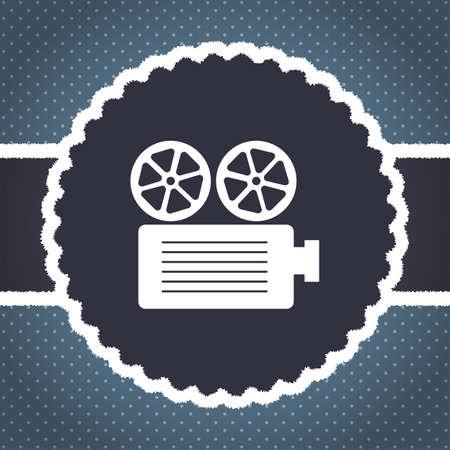 movie projector: movie projector vector icon Stock Photo