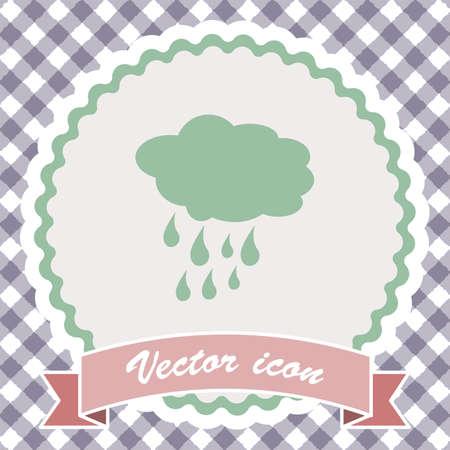 rain weather: cloud with rain weather vector icon Foto de archivo