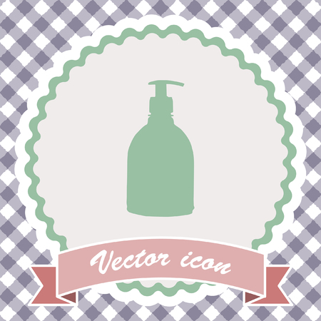 chemical cleaning: household detergent cleaning bottle vector icon Stock Photo