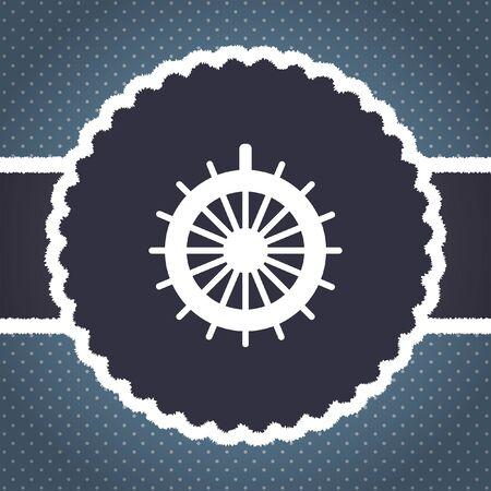 rudder: rudder vector icon Stock Photo