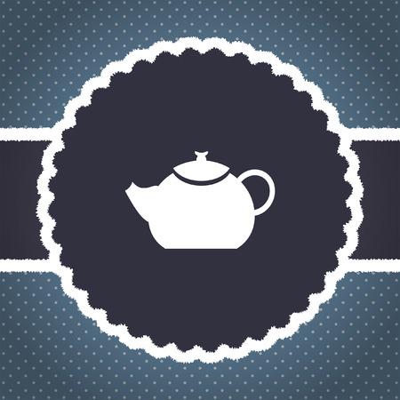 creamer: teapot vector icon Stock Photo