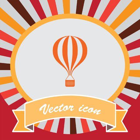air: air balloon vector icon