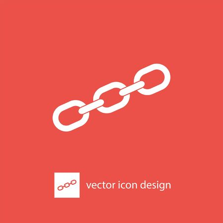 link: chain vector icon Illustration
