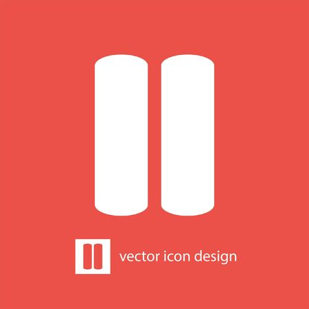 pause: pause button vector icon Illustration