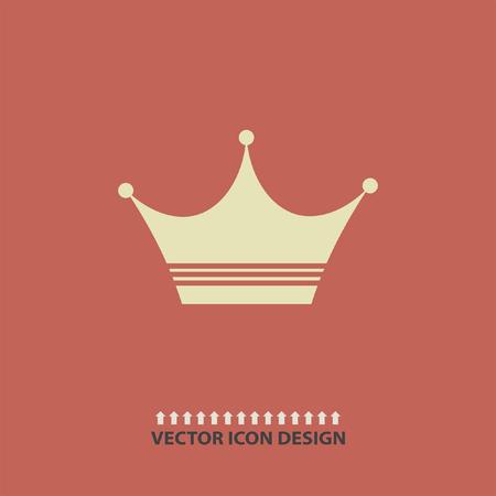 corona de reina: icono de vector corona Vectores