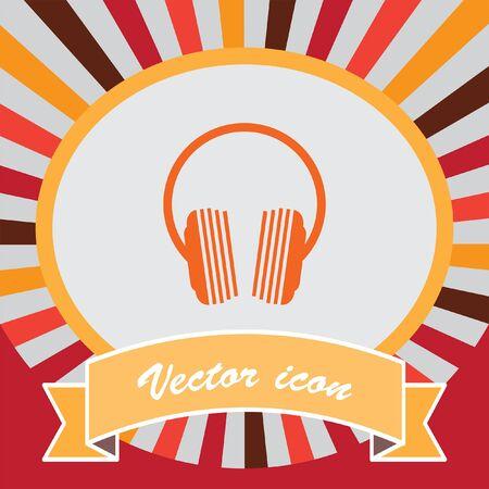 portable audio: music headphones icon design